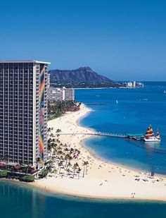 The Rainbow Tower at the Hilton Hawaiian Village-this is where Ben and I stayed when we won our trip back in February of 2005.