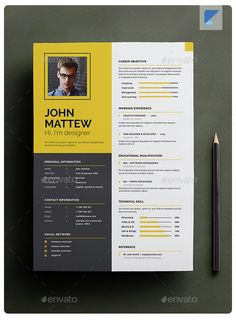 Designer Resume Template One Page Resume Template Free Download One Page Resume Template
