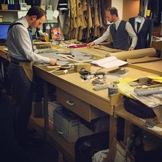 Creative studios never seem to be able to stay tidy.have you noticed this? There's always a method to the madness that reigns . Double tap if you agree. Bespoke Tailoring, Savile Row, Fashion Design Sketches, Club Style, Pattern Cutting, Stay Classy, Fabric Manipulation, Fashion Studio, Business Fashion