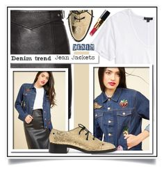 """""""Denim Trend: Jean Jackets"""" by ewa-naukowicz-wojcik ❤ liked on Polyvore featuring Topshop, Yves Saint Laurent, Proenza Schouler, White Label, Chanel and jeanjackets"""