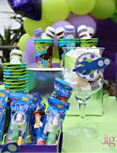 Jennifer M's Birthday / Buzz and Aliens from Toy Story - Photo Gallery at Catch My Party Cumple Toy Story, Festa Toy Story, Toy Story Party, 4th Birthday Parties, Birthday Fun, Birthday Ideas, Kid Parties, Childrens Parties, Disney Birthday