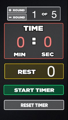 MMA Round Timer - screenshot