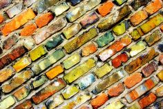 """Brickstone Personalities"" by aremac on Flickr   Fab Colors!"