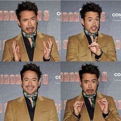 Robert Downey Jr's funny faces in Munich! ☺