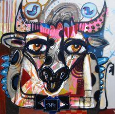 """Last painting 30""""x30"""" on canvas : """" Tofu"""""""