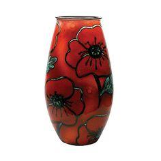 Buy Poole Pottery Poppyfield Manhattan Vase, H26cm Online at johnlewis.com