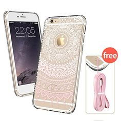 iPhone 6 Case, iPhone 6 Clear Case Mint Henna, ESR Totem Series Hybrid Case [One Piece] TPU Bumper +Hard PC Back Cover Protective Case for 4.7 inches iPhone 6s/6(Mint Mandala)