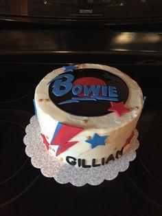 David Bowie Birthday, Music Cakes, Dad Cake, Cake Cookies, Cupcakes, Fondant Cakes, Cake Designs, Amazing Cakes, Cake Decorating