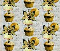 The Cupcake Fairy fabric by whimzwhirled on Spoonflower - custom fabric