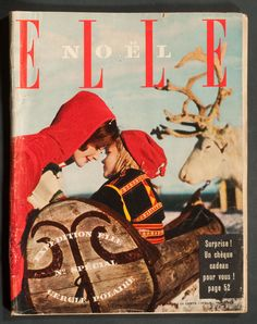 'ELLE' FRENCH VINTAGE MAGAZINE CHRISTMAS ISSUE 1 DECEMBER 1958 | eBay