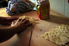 Ferricelli caserecci, typical food from Basilicata