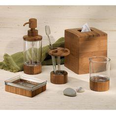 Amazon.com: InterDesign Formbu Bath Collection, Facial Tissue Box Cover/Holder for Bathroom Vanity Countertops - Bamboo: Home & Kitchen