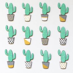 af66f5db3 Cactus wooden brooch - Laser cut brooch - Wooden pin - Cactus enamel pin -  Gift for women - Gift for her - Succulent lover gift