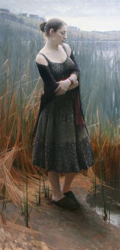 Tules By Jeremy Lipking, American realistic painter Woman Painting, Figure Painting, Painting & Drawing, Painting Abstract, Acrylic Paintings, Oil Paintings, John Singer Sargent, Grand Art, California Art