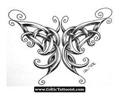 butterfly celtic tattoos - Google Search