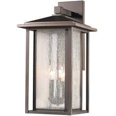 Z-Lite Aspen Tall 3 Light Dual Frame Wall Sconce with Seedy Glass Oil Rubbed Bronze Outdoor Lighting Wall Sconces Outdoor Wall Sconces Outdoor Wall Lantern, Outdoor Wall Sconce, Outdoor Wall Lighting, Outdoor Walls, House Lighting, Glass Material, Glass Design, Glass Panels, Frames On Wall
