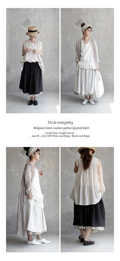 【送料無料】JoiedeVivreベルギーリネンワッシャーギャザーレイヤードスカート Fashion Over 50, Daily Fashion, Magnolia Pearl, Mori Girl, Natural Looks, Japanese Fashion, Cotton Linen, Cool Designs, Personal Style