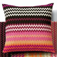 Missoni throw pillow...get in my life!