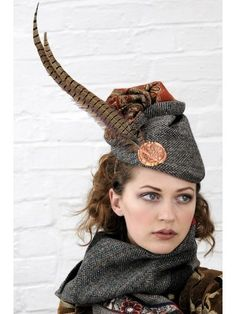 Harris Tweed and paisley feather hat band