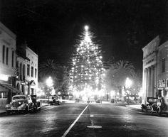 Downtown Orange, California, Dec. 1937 by Orange County Archives, via Flickr