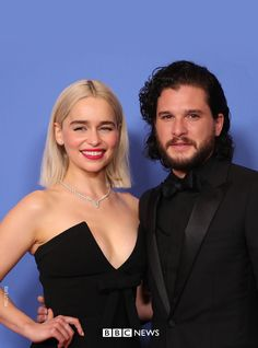 Game of Thrones' Emilia Clarke and Kit Harrington also joined in with wearing black. Kit Harrington Emilia Clarke, Celebrity Crush, Celebrity Style, Kit And Emilia, A Dream Of Spring, John Snow, Hbo Series, Kit Harington, Cultural Events