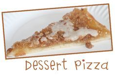 Copycat Pizza Hut Dessert Pizza - Pizza Hut no longer makes its yummy dessert pizza that came in blueberry, cherry, and apple varieties. I'm so glad I found this recipe so I can make this treat at home! Apple Recipes, Gourmet Recipes, Dessert Recipes, Cooking Recipes, Copycat Recipes, Gourmet Foods, Pizza Hut Dessert, Dessert Bars, Yummy Treats