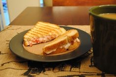Breakfast Panini with Strawberries