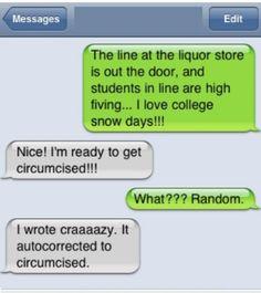 auto correct text. too funny
