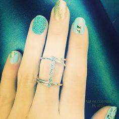 Dorado y agua marina, la tendencia para febrero!! Nail Art, Nails, Painting, Beauty, February, Fingernail Designs, Water, Colombia, Trends