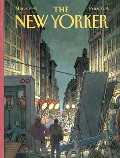 """The New Yorker - Monday, March 8, 1993 - Issue # 3550 - Vol. 69 - N° 3 - Cover """"A Night at the Movies"""" by Roxie Munro"""
