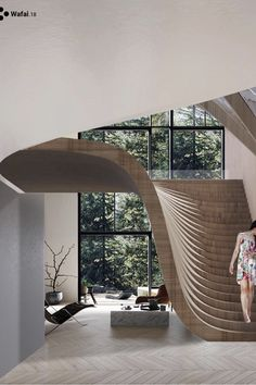 NgLp Designs shares... stunning wooden staircase design inspiration via Instagram Design And Live | woodworking | home design | interior design | architecture /// #staircase #architecture #moderninteriordesign