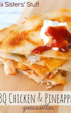 Slow Cooker Cheesy Chicken Quesadillas – Six Sisters' Stuff
