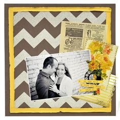 Yellow with silver chevron.