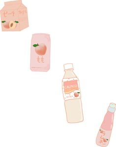 'Peach Drinks Sticker by Usagimich Bullet Journal Books, Book Journal, Cute Wallpaper Backgrounds, Cute Wallpapers, Amazing Drawings, Amazing Art, Peach Drinks, Peach Aesthetic, Sorority Paddles