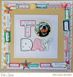 TODAY scrapbook layout by Melissa Man for Elle's Studio