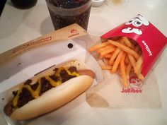 Hot Dog Buns, Hot Dogs, Jollibee, Cheese Fries, Soul Food, Spicy, Bread, Dining, Drinks