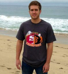 San Francisco City of  Champions Men's by BeachKidzPrinting, $22.95 #sfgiants #sf49ers #49ers
