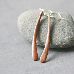 curved wood earrings