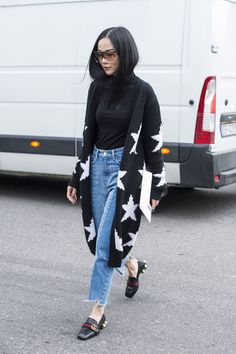 From loafers to mules to boots, Gucci shoes dotted the streets of Milan during the fall '16 shows this week.