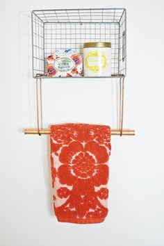 Wire Basket Towel Rack