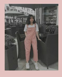 look of the day, pink and white Korean Girl Fashion, Korean Fashion Trends, Korean Street Fashion, Ulzzang Fashion, Korea Fashion, Cute Casual Outfits, Pretty Outfits, Beautiful Outfits, Kawaii Fashion