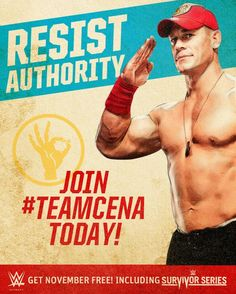 Promotional banner of Team Cena and Team Authority