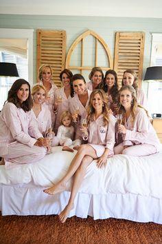 adorable pajamas for the wedding morning! | Paul Johnson #wedding