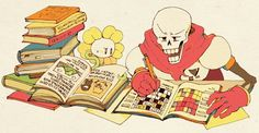 papyrus and flowey
