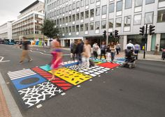 Artist Camille Walala has applied her signature graphic style to a pedestrian…