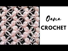 Crochet puff& solomon's knot pattern stitch by Oana Shawl Patterns, Crochet Stitches Patterns, Stitch Patterns, Crochet Crafts, Yarn Crafts, Crochet Projects, Crochet Baby Dress Pattern, Crochet Motif, Crochet Shawls And Wraps