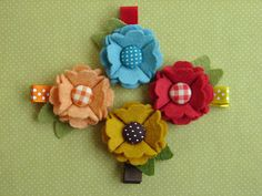 Wool Felt Flower Hair Clip/brooch