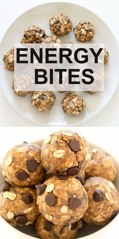 No Bake 5 Ingredient Peanut Butter Energy Bites. Loaded with old fashioned oats,… No Bake 5 Ingredient Peanut Butter Energy Bites. Loaded with old fashioned oats, peanut butter and flax seeds. A healthy protein packed breakfast or snack! Healthy Snacks To Buy, Healthy Toddler Snacks, Healthy Baking, Healthy Desserts, Breakfast Bites, Healthy Drinks, Healthy Snacka, Healthy Breakfast Cookies, Healthy Kids Breakfast