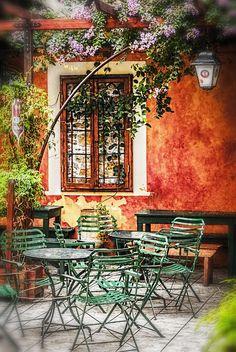 Greece Travel Inspiration - Cafe in Corfu Town, Corfu, Greece