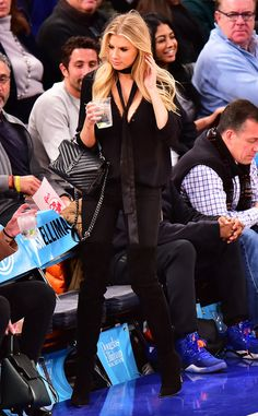 Charlotte McKinney from Courtside Celebs Are Making Serious Style Statements | E! Online